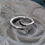 'Symmetry' Plain Band Sterling Silver Ring