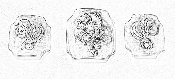 Gothic Dragon Bracelet Sketch 1