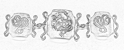 Gothic Dragon Bracelet Sketch 3