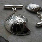 'Fossils in Silver' Cufflinks