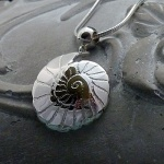 'Fossils in Silver' Small Plain Pendant