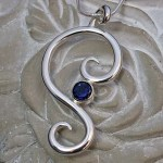'Symmetry' Pendant with Iolite Gemstone