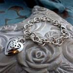 'Heart's Desire' Celtic Knot Charm Bracelet
