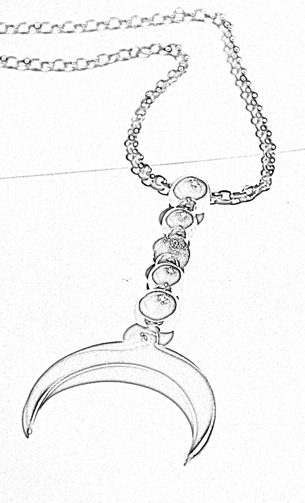 Crescent Moon Necklace design sketch