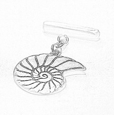 Sketch design for Ammonite-inspired cuff links