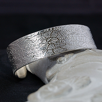 Mosaic of Fossils Cuff Bangle
