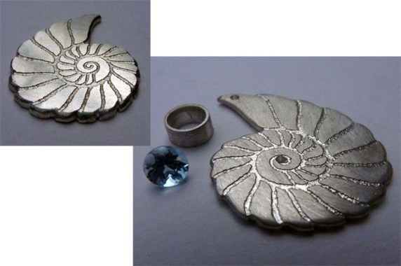'Fossils in Silver' - early steps with the pendant