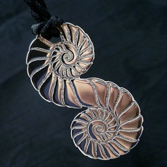 Infinity Fossil Pendant in Sterling Silver