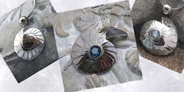 The 'Fossils in Silver' Pendant Collection