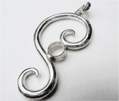 'Symmetry' Sterling Silver Pendant