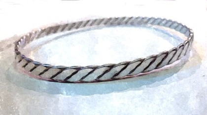 Woven Bangle after soldering